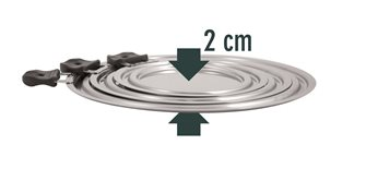 Set of 3 lids for 9 diameters stainless steel from 14 to 30 cm