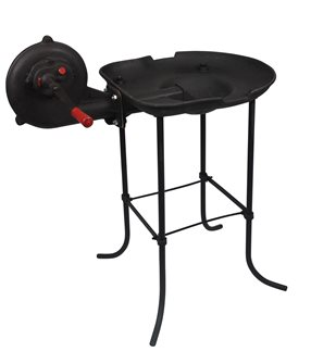 Cast iron coal forge with fan