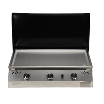 Plancha gas 9 kW stainless steel plate 78x45 coating stainless steel anti-trace hood red