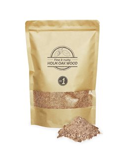 Pack of green oak sawdust for smoking room