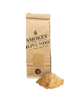Bag of olive sawdust for smoking room