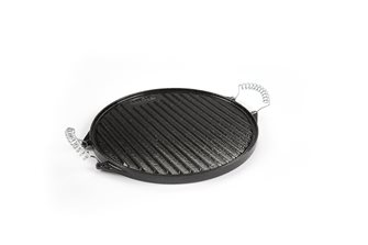 Round reversible plancha grill in enamelled cast iron - 42 cm.
