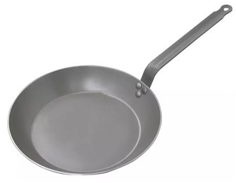 24 cm frying pan made of Pro induction steel sheet 2.5 mm Lyonnaise cut