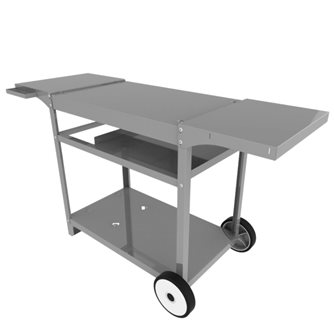Stainless steel trolley for plancha Iparla