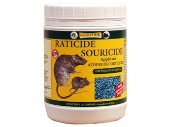 Oatmeal based rat and mouse poison