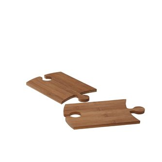 Bamboo boards for buffet and aperitif with glass door by 2