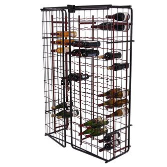 150 bottle rack with closing cabinet
