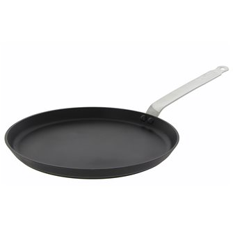 30 cm induction pancake pan with ultra-resistant non-stick stainless steel tail made in France