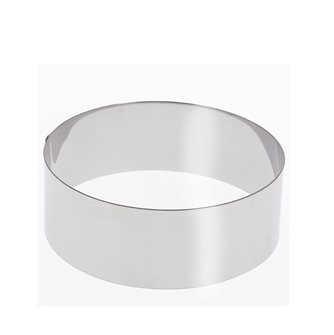 Stainless steel circle 18 cm high 6 cm for vacherin and other pastries