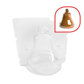 8x8x9.5 cm chocolate easter bell mold