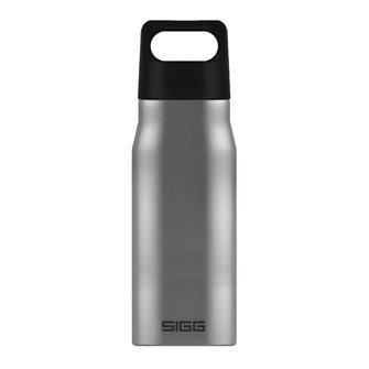Brushed stainless steel water bottle 0.75 liter wide opening Explorer Sigg