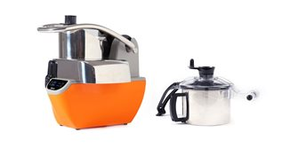 Combined vegetable cutter and cutter with variable speed timer stopwatch and digital display