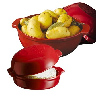Cheese Baker red Grand Cru Emile Henry potato and cheese oven devil kit