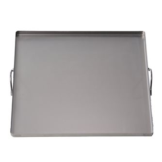 Square steel plate 40x40 cm with handles all lights, oven and barbecue