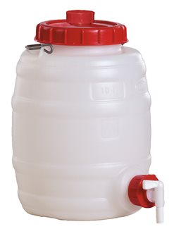 Cylindrical food grade keg - 10 litres