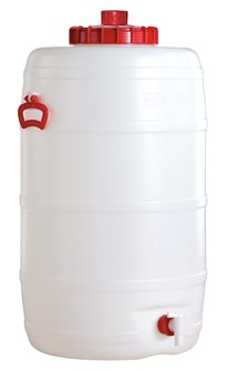 Cylindrical food grade keg - 120 litres