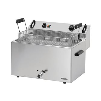Professional electric donut fryer 16 liter wide basket with three-phase tap