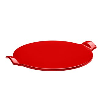 Smooth Stone Pizza 37 cm red Coquelicot Emile Henry